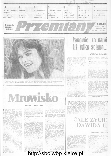 Przemiany : miesięcznik społeczno-kulturalny, 1989, R.20, sierpień