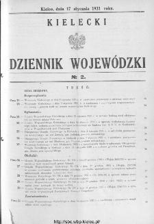 Kielecki Dziennik Wojewódzki 1931, nr 2