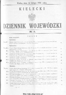 Kielecki Dziennik Wojewódzki 1931, nr 4
