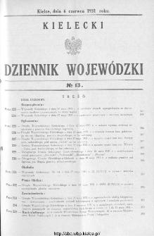 Kielecki Dziennik Wojewódzki 1931, nr 13