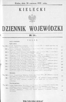 Kielecki Dziennik Wojewódzki 1931, nr 14