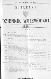 Kielecki Dziennik Wojewódzki 1931, nr 16
