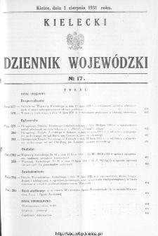 Kielecki Dziennik Wojewódzki 1931, nr 17