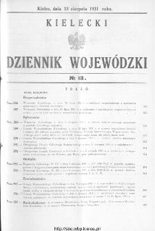 Kielecki Dziennik Wojewódzki 1931, nr 18