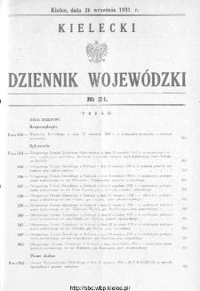 Kielecki Dziennik Wojewódzki 1931, nr 21