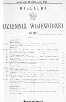 Kielecki Dziennik Wojewódzki 1931, nr 22