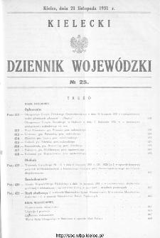 Kielecki Dziennik Wojewódzki 1931, nr 25
