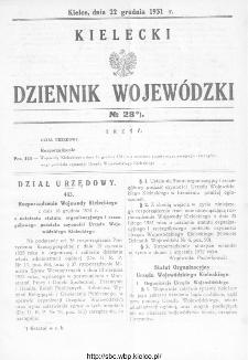 Kielecki Dziennik Wojewódzki 1931, nr 28
