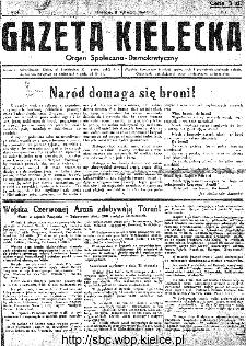 Gazeta Kielecka, 1945, R.1, nr 1