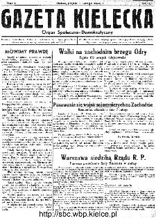 Gazeta Kielecka, 1945, R.1, nr 6