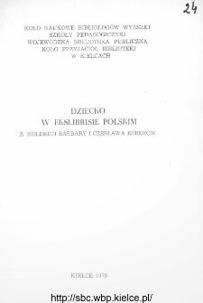 Dziecko w ekslibrisie polskim z kolekcji Barbary i Czesława Erberów
