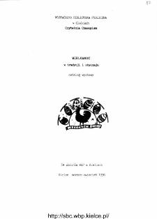 Wielkanoc w tradycji i obyczaju. Katalog wystawy ze biorów WBP w Kielcach.