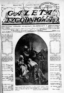 Gazeta Tygodniowa. Poświęcona sprawom religijnym, oświatowym i społecznym,1931, R.2, nr 1