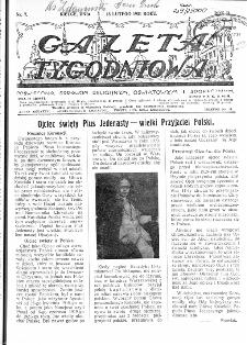 Gazeta Tygodniowa. Poświęcona sprawom religijnym, oświatowym i społecznym,1931, R.2, nr 7