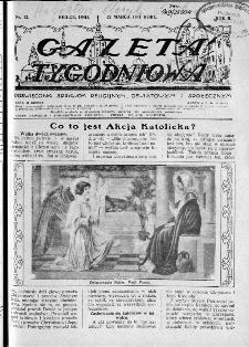Gazeta Tygodniowa. Poświęcona sprawom religijnym, oświatowym i społecznym,1931, R.2, nr 12