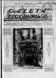 Gazeta Tygodniowa. Poświęcona sprawom religijnym, oświatowym i społecznym,1931, R.2, nr 15