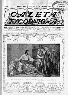 Gazeta Tygodniowa. Poświęcona sprawom religijnym, oświatowym i społecznym,1931, R.2, nr 24