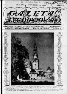 Gazeta Tygodniowa. Poświęcona sprawom religijnym, oświatowym i społecznym,1931, R.2, nr 41