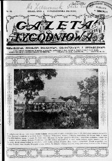 Gazeta Tygodniowa. Poświęcona sprawom religijnym, oświatowym i społecznym,1931, R.2, nr 42