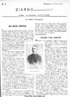 Ziarno : pismo tygodniowe ilustrowane 1908, nr 9