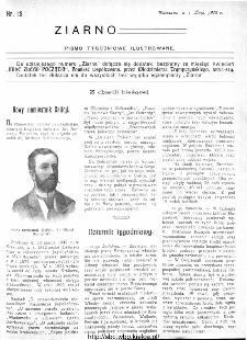 Ziarno : pismo tygodniowe ilustrowane 1908, nr 18