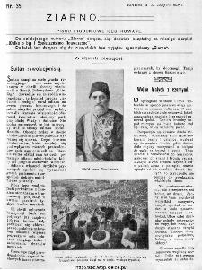 Ziarno : pismo tygodniowe ilustrowane 1908, nr 35