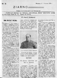 Ziarno : pismo tygodniowe ilustrowane 1908, nr 36