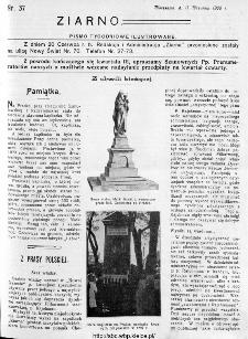 Ziarno : pismo tygodniowe ilustrowane 1908, nr 37