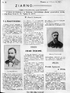 Ziarno : pismo tygodniowe ilustrowane 1908, nr 41