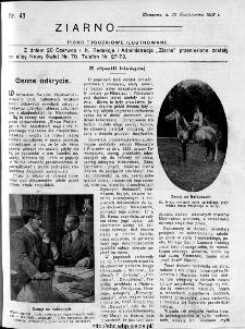 Ziarno : pismo tygodniowe ilustrowane 1908, nr 43