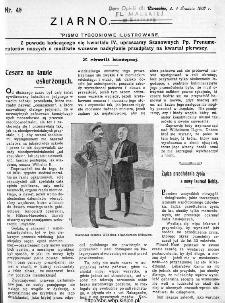 Ziarno : pismo tygodniowe ilustrowane 1908, nr 49