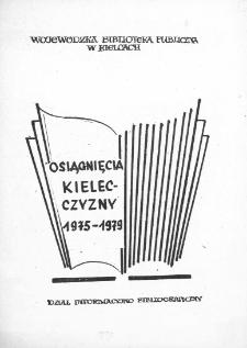 Osiągnięcia Kielecczyzny 1975-1979 : [bibliografia]
