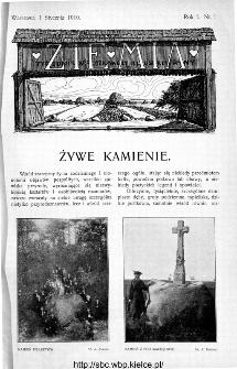 Ziemia : tygodnik krajoznawczy ilustrowany 1910, nr 1