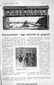 Ziemia : tygodnik krajoznawczy ilustrowany 1910, nr 2