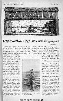 Ziemia : tygodnik krajoznawczy ilustrowany 1910, nr 3
