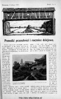 Ziemia : tygodnik krajoznawczy ilustrowany 1910, nr 6