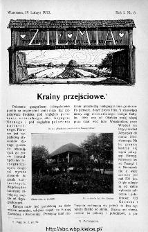 Ziemia : tygodnik krajoznawczy ilustrowany 1910, nr 8