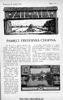 Ziemia : tygodnik krajoznawczy ilustrowany 1910, nr 9