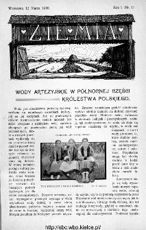 Ziemia : tygodnik krajoznawczy ilustrowany 1910, nr 11