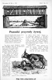 Ziemia : tygodnik krajoznawczy ilustrowany 1910, nr 13