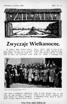 Ziemia : tygodnik krajoznawczy ilustrowany 1910, nr 14