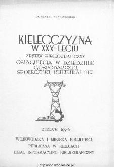 Kielecczyzna w XXX-leciu : zestaw bibliograficzny