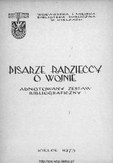 Pisarze radzieccy o wojnie : adnotowany zestaw bibliograficzny