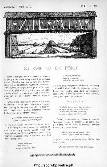 Ziemia : tygodnik krajoznawczy ilustrowany 1910, nr 19