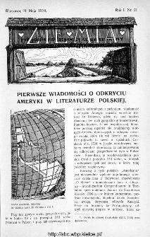 Ziemia : tygodnik krajoznawczy ilustrowany 1910, nr 21