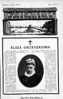 Ziemia : tygodnik krajoznawczy ilustrowany 1910, nr 22