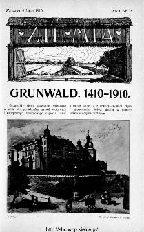 Ziemia : tygodnik krajoznawczy ilustrowany 1910, nr 28