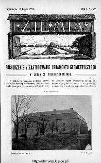 Ziemia : tygodnik krajoznawczy ilustrowany 1910, nr 29