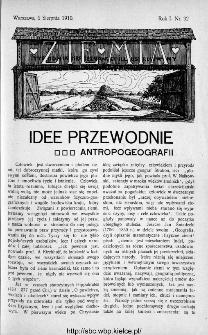 Ziemia : tygodnik krajoznawczy ilustrowany 1910, nr 32