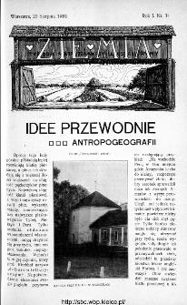 Ziemia : tygodnik krajoznawczy ilustrowany 1910, nr 34